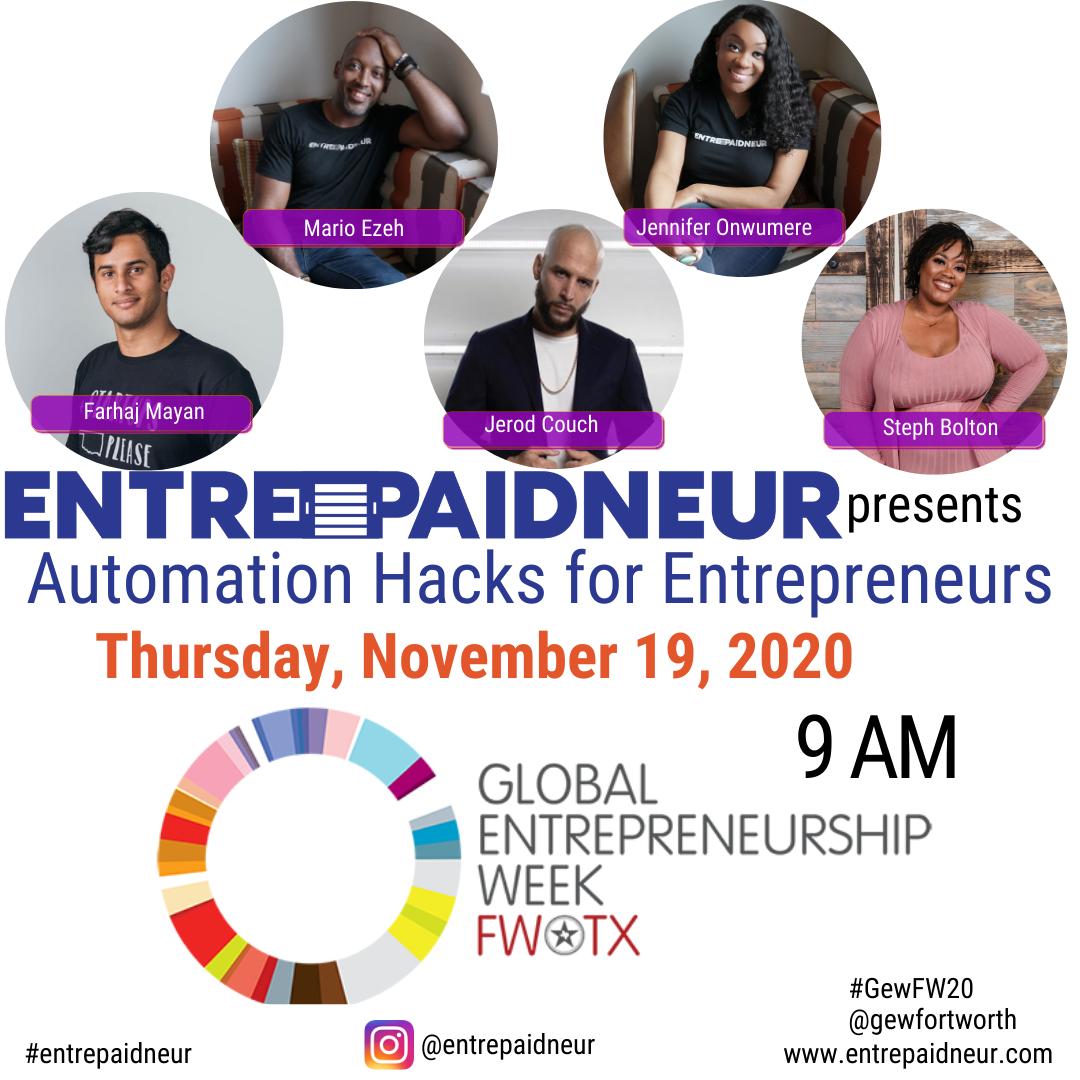 Global Entrepreneur Week with Entrepaidneur